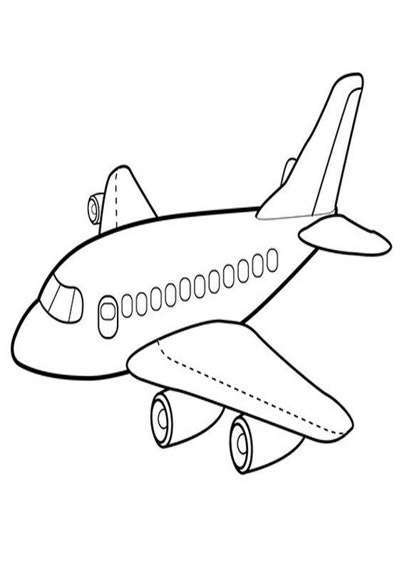 8.Gambar Mewarnai Pesawat Terbang