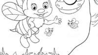 9.Gambar Mewarnai Lebah
