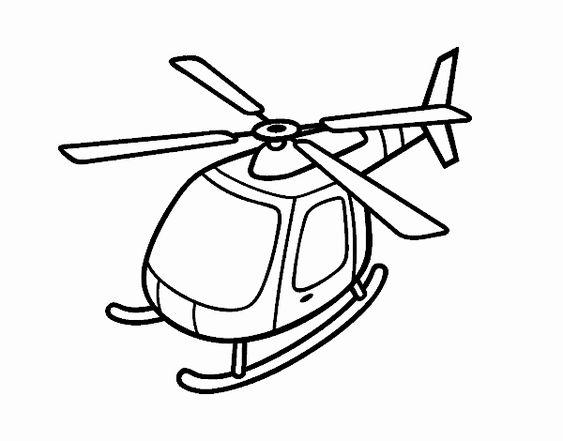 1.Gambar Mewarnai Helikopter