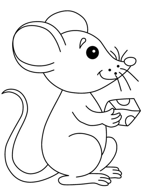 1.Gambar Mewarnai Tikus