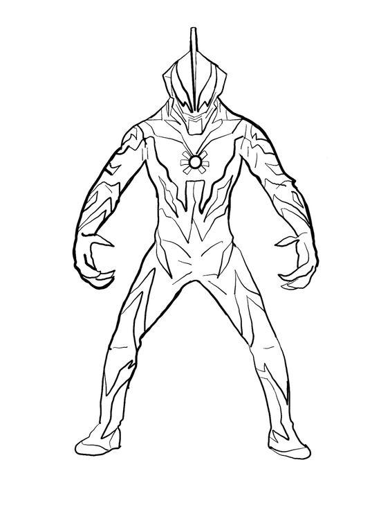 1.Gambar Mewarnai Ultraman