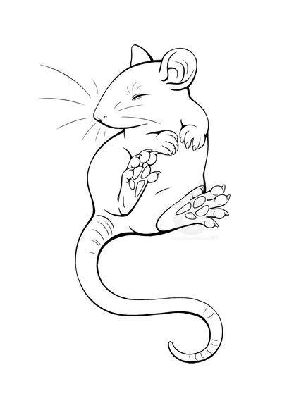 10.Gambar Mewarnai Tikus
