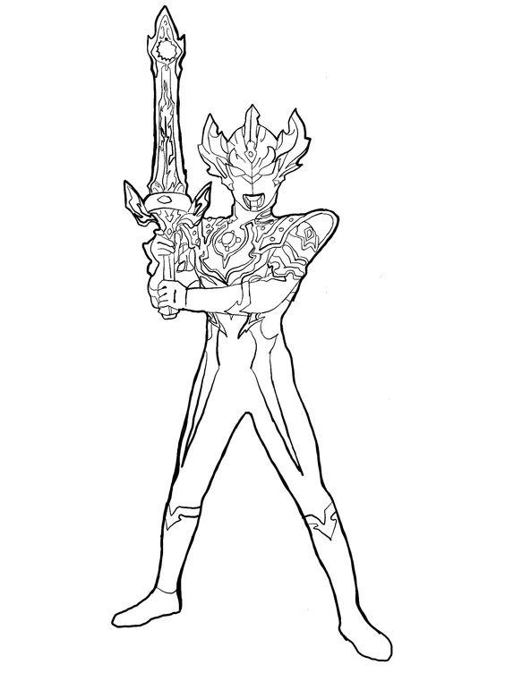 10.Gambar Mewarnai Ultraman
