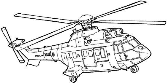 2.Gambar Mewarnai Helikopter