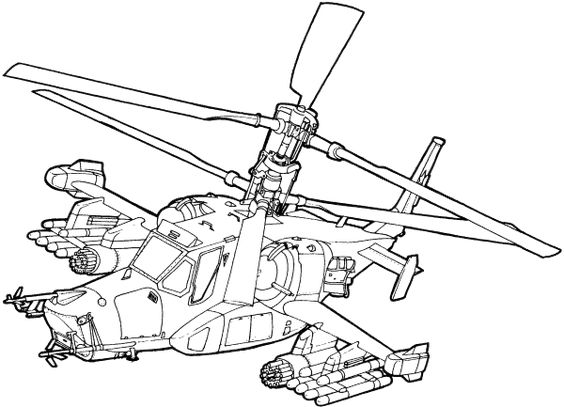 5.Gambar Mewarnai Helikopter