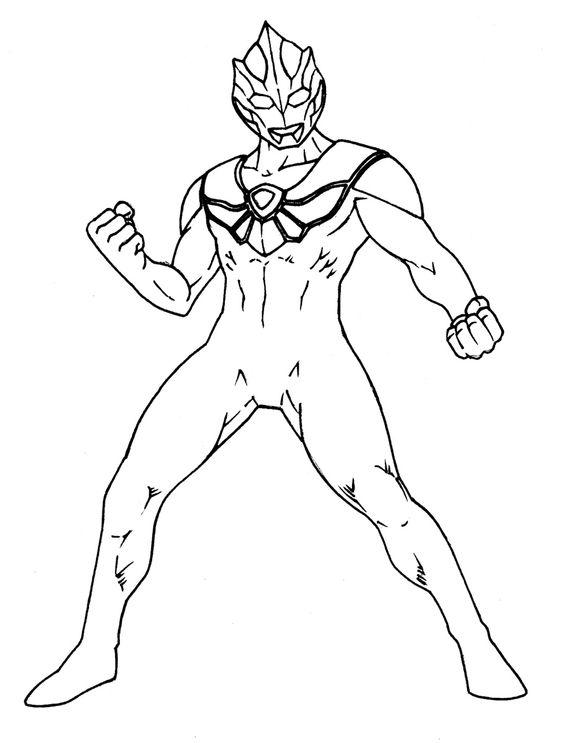 5.Gambar Mewarnai Ultraman