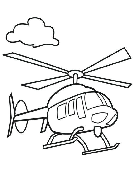 6.Gambar Mewarnai Helikopter