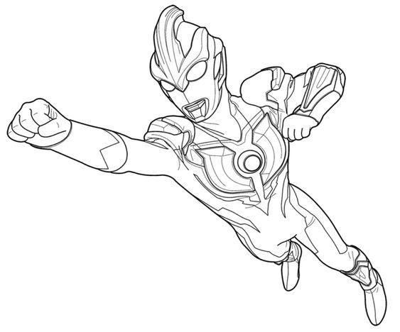 6.Gambar Mewarnai Ultraman