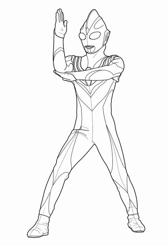 7.Gambar Mewarnai Ultraman