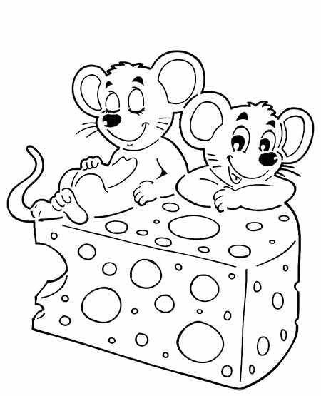 9.Gambar Mewarnai Tikus