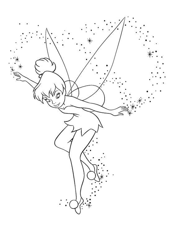 11.Gambar Mewarnai Tinker Bell