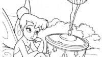 7.Gambar Mewarnai Tinker Bell