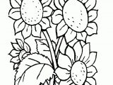 Gambar Mewarnai Bunga Matahari Tangkai